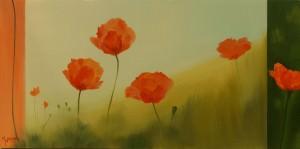 Jan-willem Boer 5 poppies oil painting