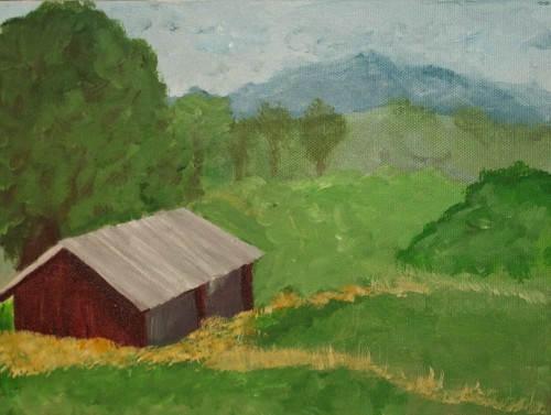 Glenda-barn-oil-painting