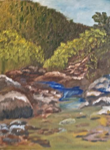 blurred-stream-oil-painting