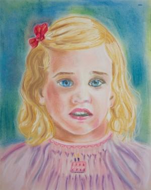 Judy portrait in oil