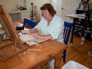 Judy-using-pastels