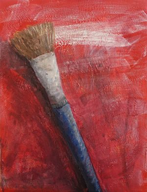 brush in oil