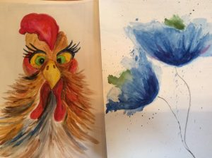 rooster-and-watercolor