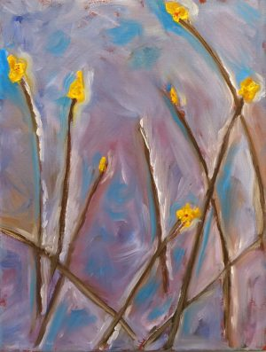 flowers in oil painting
