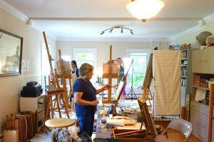 Studio painting