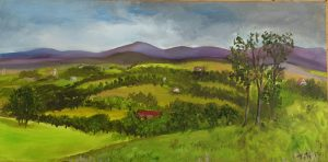 valley in oil paint